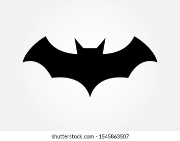Bat on a white background. Superhero batman  wing logo American comic books. Vector  illustration.