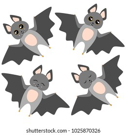Bat Set Vector Illustration
