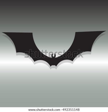 Bat Symbol Icon Design Dark Night Stock Vector Royalty Free