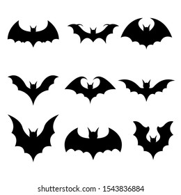 Bat vector design illustration isolated on white background