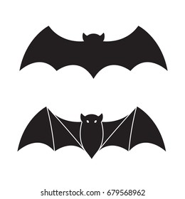 Bat vector icon Halloween illustration logo
