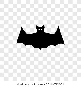 Bat vector icon isolated on transparent background, Bat transparency logo concept
