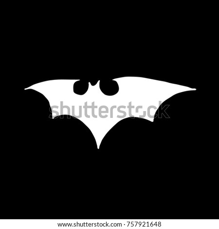 Bat Vector Illustration Doodle Style Design Stock Vector Royalty