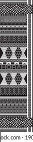 Batak ulos motif with black color design