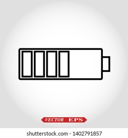 Batery icon illustration isolated sign symbol eps 10