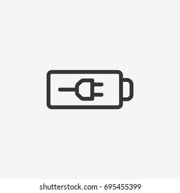Batery  icon illustration isolated vector sign symbol