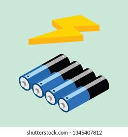 Batery Isometric Icon