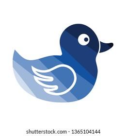 Bath duck icon. Flat color design. Vector illustration.