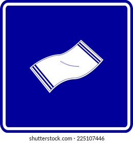 bath towel sign