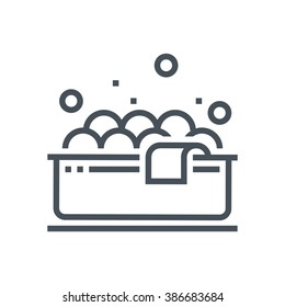 Bath tub, jacuzzi icon suitable for info graphics, websites and print media and  interfaces. Line vector icon.