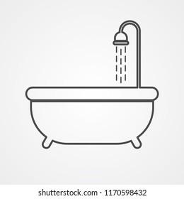 Bath vector icon