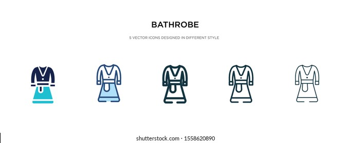 bathrobe icon in different style vector illustration. two colored and black bathrobe vector icons designed in filled, outline, line and stroke style can be used for web, mobile, ui