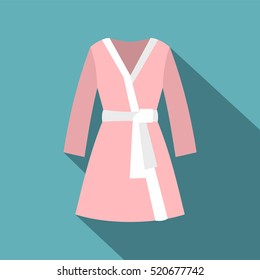 Bathrobe icon. Flat illustration of bathrobe vector icon for web design