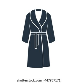 bathrobe icon on white background