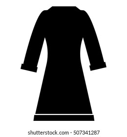 Bathrobe icon. Simple illustration of bathrobe vector icon for web