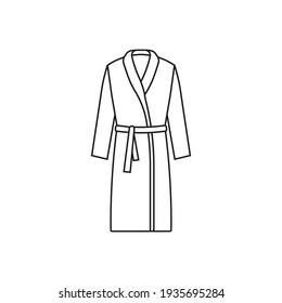 Bathrobe icon. Vector. Line style.