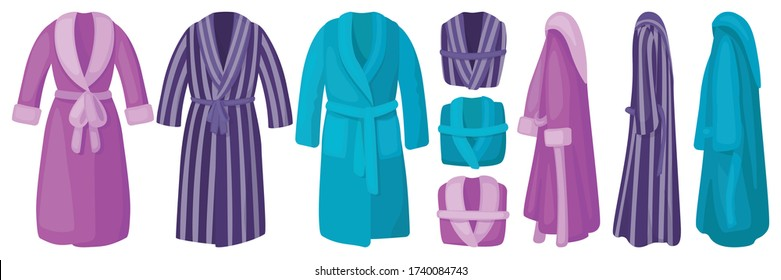 Bathrobe isolated cartoon set icon. Vector illustration bath robe on white background. Vector cartoon set icon bathrobe.
