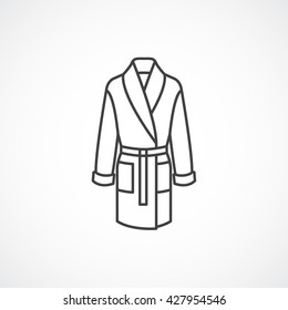 Bathrobe line icon. Vector line icon isolated on white background