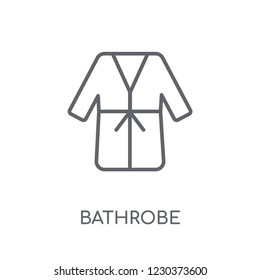 Bathrobe linear icon. Modern outline Bathrobe logo concept on white background from Hotel and Restaurant collection. Suitable for use on web apps, mobile apps and print media.