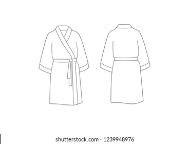 Bathrobe, vector art