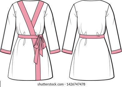 bathrobe vector graphic illustration design
