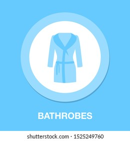 bathrobes icon - vector clothes, vector fashion illustration -woman clothing
