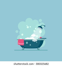 Bathroom cover Modern trendy design. Vector illustration.