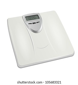 bathroom digital scale. vector
