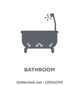 Bathroom icon. Bathroom design concept from  collection. Simple element vector illustration on white background.