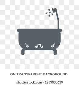 Bathroom icon. Bathroom design concept from  collection. Simple element vector illustration on transparent background.