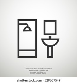 Bathroom Icon Vector.