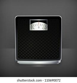 Bathroom scale, vector