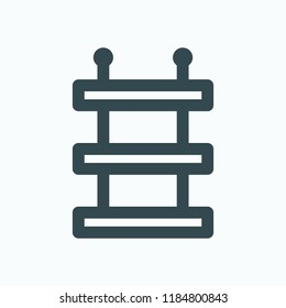 Bathroom shelves for storage wall mount vector icon
