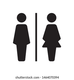 Bathroom sign, toilet icon in trendy flat style design. Vector graphic illustration. Suitable for website design, logo, app, template, and ui. EPS 10.