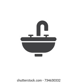 Bathroom sink unit icon vector, filled flat sign, solid pictogram isolated on white. Symbol, logo illustration.
