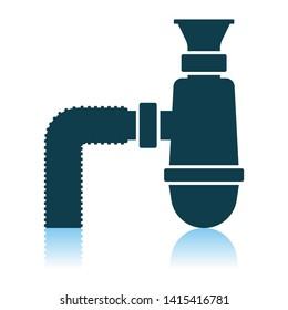 Bathroom Siphon Icon. Shadow Reflection Design. Vector Illustration.