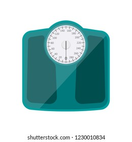 Bathroom weighing scale vector design