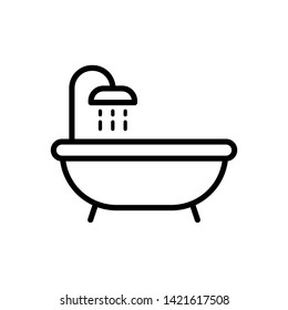 Bathtub icon trendy design template