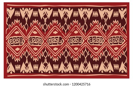 Batik bali, balinese ikat floral pattern