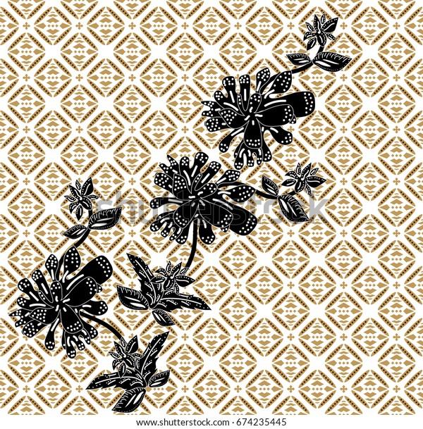 new product 07a0d ef535 Batik Bali Flower Floral Vector Pattern Stock Vector ...