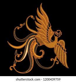 batik bird 11 vector