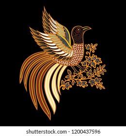 batik bird 17 vector