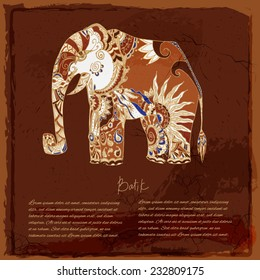 Batik Elephant background