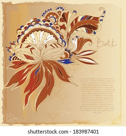 batik exotic background