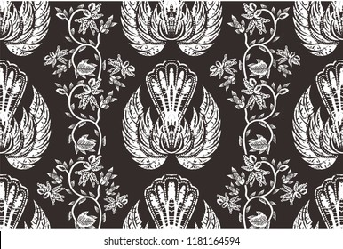 """""""Batik Gurdo""""  Indonesian batik motif, Batik is a technique of wax-resist dyeing applied to whole cloth, or cloth made using this technique originated from Indonesia"""