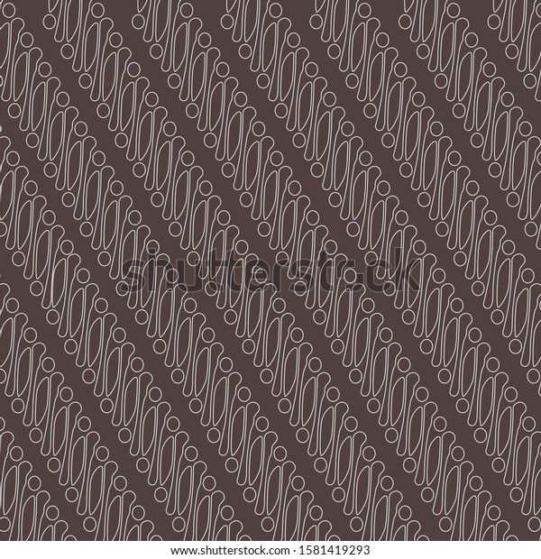 Batik Parang Jogja Yogya Pattern Traditional Stock Vector