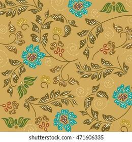 batik sarong pattern background in Thailand, traditional batik sarong in Asian