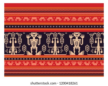 Batik sumba ceremonial panel pattern