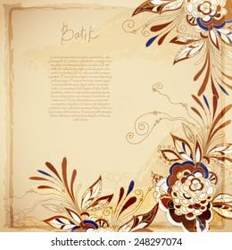 Batik vector background