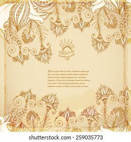 Batik vector vintage background